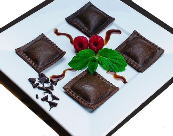 CHOCOLATE HAZELNUT DESSERT RAVIOLI